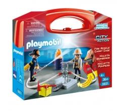 Maletin Bomberos Playmobil...