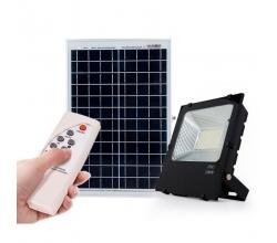 Proyector LED Solar 100W Sensor + Control Remoto Panel 6V/25W 3,7V/24000mAH 530x350x17mm [PLMP-626005-CW]