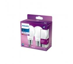 Pack 2 Bombilla LED Philips E27 A60  4.5W 470Lm 4000K [PH-929001323657]