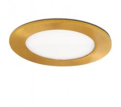 Placa de LEDs Circular Ø120Mm 6W 480Lm 50.000H Dorado