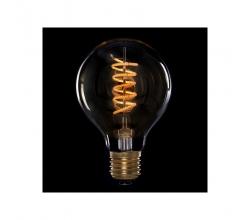 Bombilla Vintage LED Dimable G80 Globo Vortice 4W E27 Vidrio Ámbar [AM-DL805]