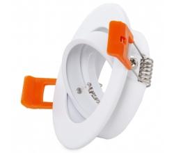 Aro Foco Downlight  Circular Basculante Aluminio Blanco 93Mm